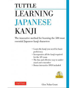Learning Japanese Kanji: The Innovative Method for Learning the 500 Most Essential Kanji- CD incluso