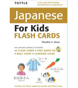 Tuttle Japanese for Kids Flash Cards Kit (CD Incluso)