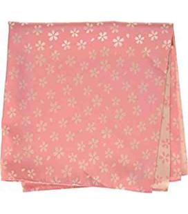Yamada Seni Musubi - Fazzoletto giapponese - Kirara-Sakura (rosa e color crema) - 100% Poliestere
