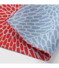 Yamada Seni Musubi - Fazzoletto giapponese - Decorazione Crisantemi Double face (rosso e azzurro) - 100% Cotone
