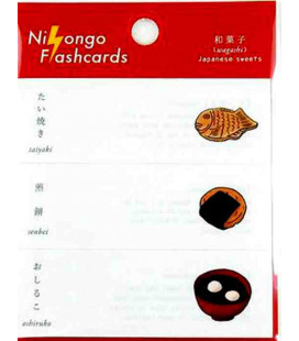 "Notas Adhesivas japonesas (post-it) ""Nihongo flashcards"" - Wagashi (Japanese sweets)"