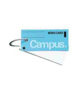 Mini schede didattiche per vocabolario - Campus Kokuyo (85 fogli-Copertina azzurra)