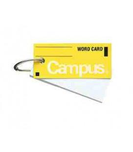 Mini schede didattiche per vocabolario - Campus Kokuyo (85 fogli-Copertina gialla)