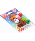 Iwako Puzzle Eraser - Christmas - (Mini gomme kawaii) Made in Japan