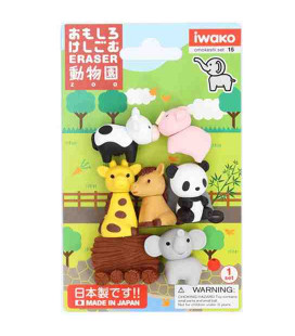 Iwako Puzzle Eraser - Zoo - (Mini Gomme Kawaii) Made in Japan