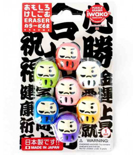 Iwako Puzzle Eraser - Daruma - (Mini Gomme Kawaii) Made in Japan