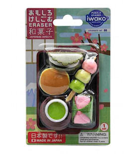 Iwako Puzzle Eraser - Japanese Sweet - (Mini Gomme Kawaii) Made in Japan