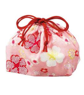 Hakoya Sakura Bento Bag - Modello 33676-4 (Fiore di ciliegio rosa)