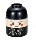 Hakoya Kokeshi Bento - Taglia M - Modello 50616-7 (Ichiro) - Colore nero
