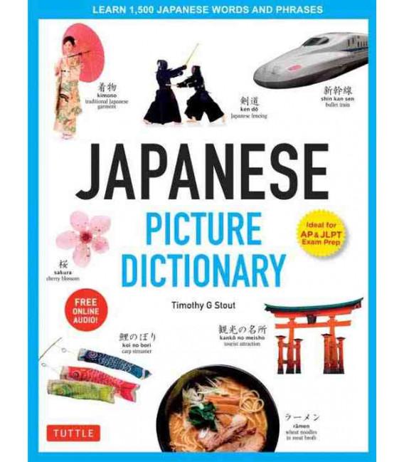Japanese Picture Dictionary (Ideal for AP & JLPT Exam Prep) - Incluye descarga de audio