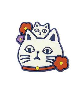 Kurochiku -Japanese Print Magnet - Neko