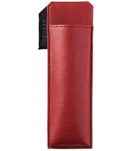 Porta bolígrafos magnético japonés de cuero - Modelo Pensam 2001 (Red) - Color rojo