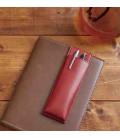 Portapenne Magnetico Giapponese in Pelle - Modello Pensam 2001 (Red) - colore rosso