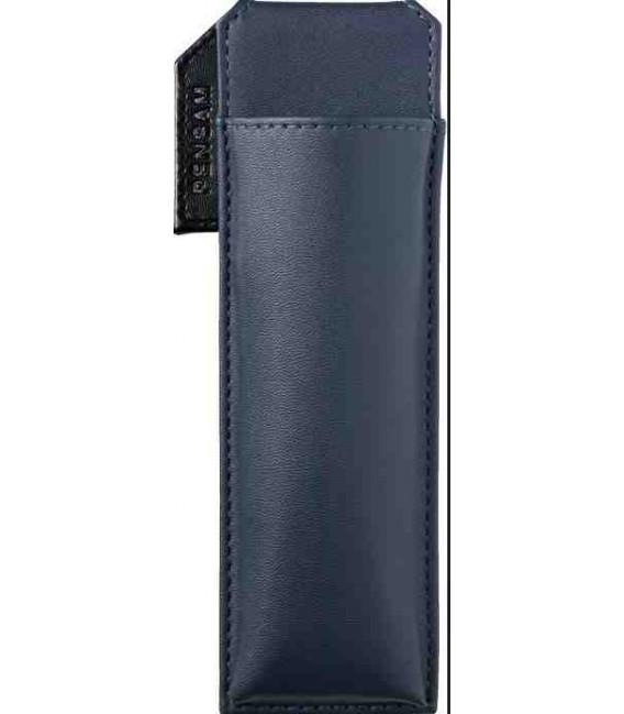 Portapenne Magnetico Giapponese in Pelle - Modello Pensam 2001 (Blue) - colore blu scuro