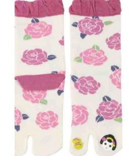 "Calcetines de mujer ""Tabi"" de dos dedos - Kurochiku (Kyoto)- Modelo Maiko (Talla única 23-25 cm)"