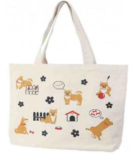 Borsa Giapponese in tela Kurochiku - Modello: Dogs - 100% coton