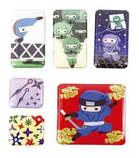 Kurochiku - 6 Pieces Japanese Print Magnet - Ninja