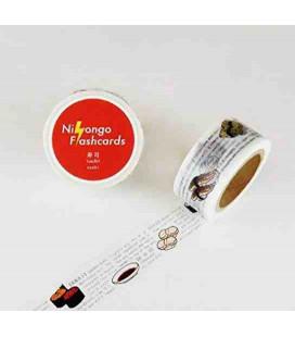 """Scoatch decorativo giapponese """"Nihongo flashcards"""" - Sushi"""