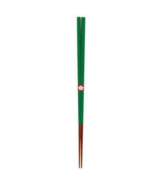 Bacchette giapponesi tradizionali Kawai - Colore Tokiwamidori (Verde)