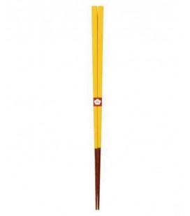 Bacchette giapponesi tradizionali Kawai - Colore Yamabukiiro (giallo)
