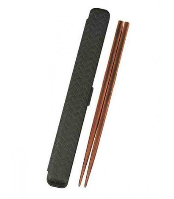 Bacchette giapponesi con custodia - Modello 33052 - Set Kuro (nero)