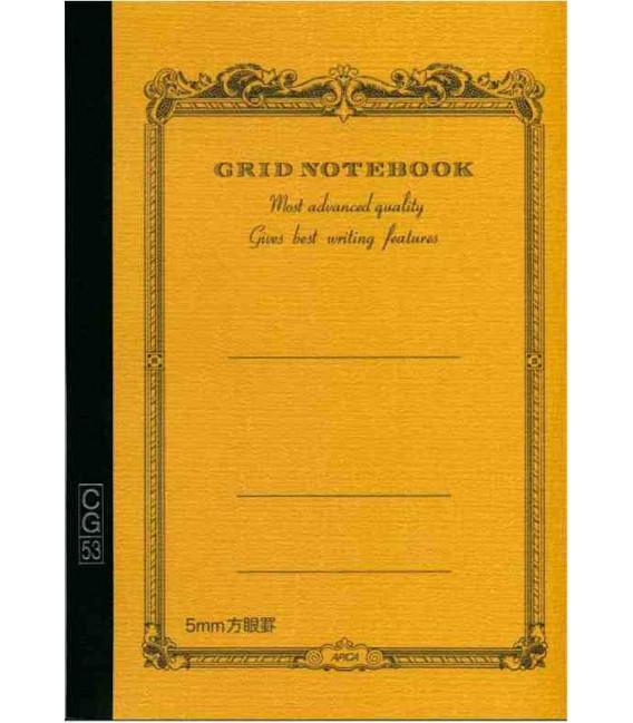Apica CG53-BY Notebook (Formato A5 - Colore Giallo - Quadrettato- 52 Fogli)