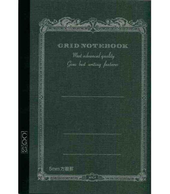 Apica CG53-BK Notebook (Tamaño A5 - Color negro - Pauta cuadriculada - 52 páginas)