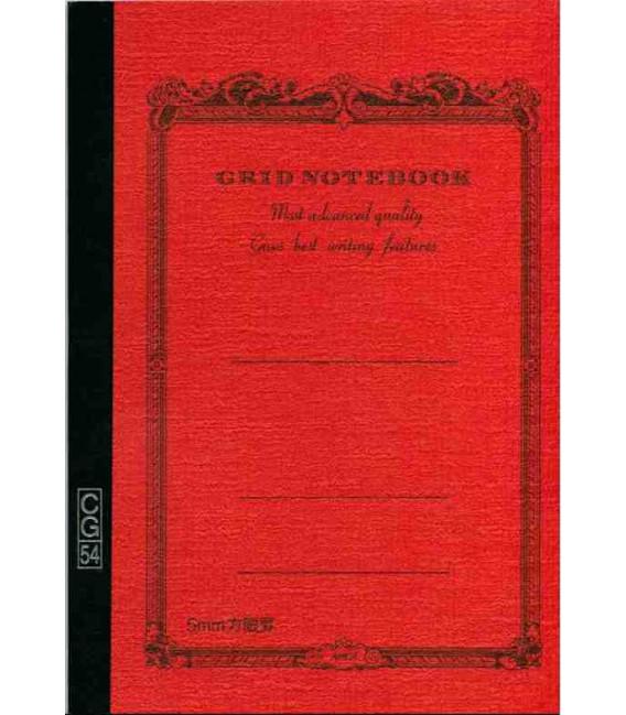 Apica CG54 - Notebook (Tamaño B6 - Color naranja - Pauta cuadriculada - 104 páginas)