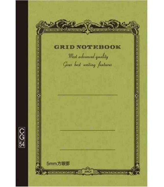 Apica CG54 - Notebook (Formato B6 - Colore verde - Quadrettato - 104 Fogli)