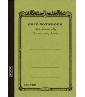 Apica CG54 - Notebook (Formato B6 - Colore verde kaki - Quadrettato - 104 Fogli)