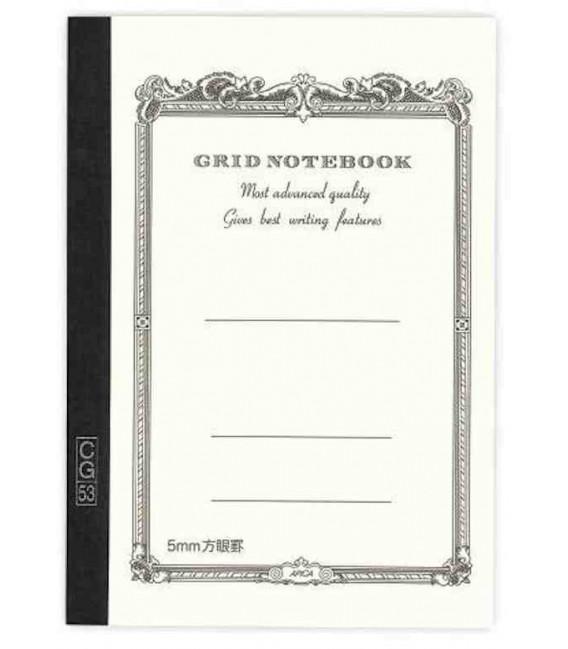 Apica CG54 - Notebook (Formato B6 - Colore bianco - Quadrettato - 104 fogli)