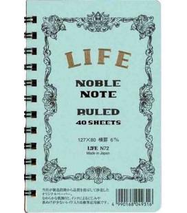 Life Noble Note - N72 (Formato 127x80mm - Azzurro - a righe - 40 Fogli)