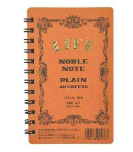 Life Noble Note - N71 (Formato 127x80mm - colore marrone - fogli lisci - 40 Fogli)