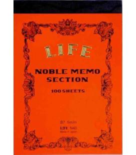 Life Noble Memo - N40 (Formato B7 - arancia - Quadrettato - 100 Fogli)