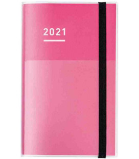 Jibun Techo Kokuyo - Agenda 2021 - Diary + Life + Idea set - A5 Slim - Color rosa