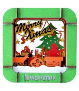 Hacomo Box - Biglietto di auguri tridimensionale - Santa Claus