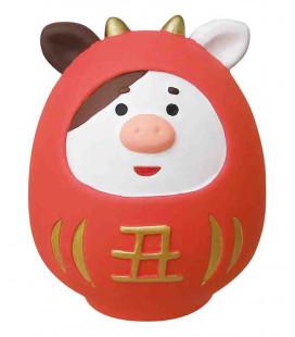 Decole - Daruma in ceramica Rosso ushi - Concombre Fuku Mono - Modello ZSG-43703