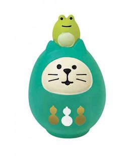 Decole - Gatto Daruma verde - Concombre Fuku Mono - Modello ZCB-43946