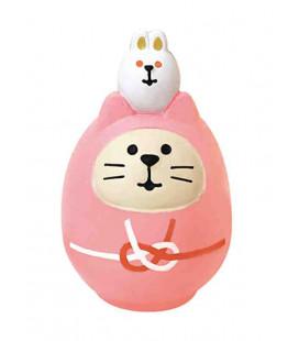 Decole - Gato Daruma rosa - Concombre Fuku Mono - Modelo ZCB-43949