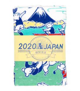 Asciugamano giapponese tenugui Kurochiku (Kyoto)- Modello Sports nezumi