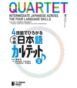 Quartet - Intermediate Japanese Across the Four Language Skills II (Con download gratuito degli audio)