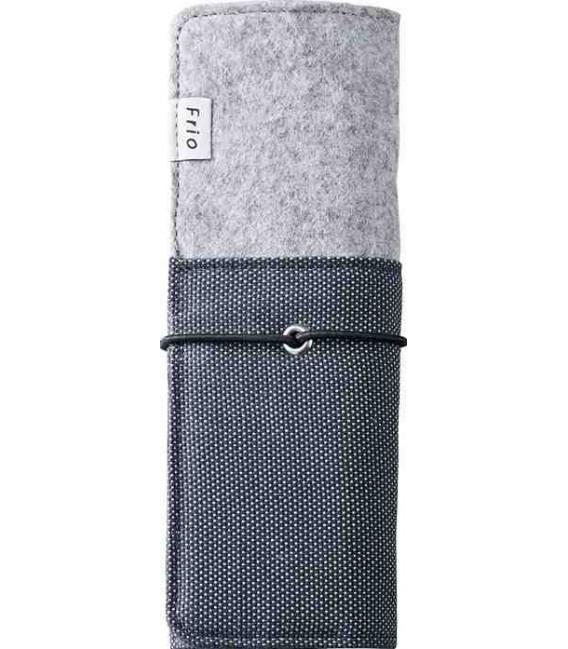 Astuccio pieghevole giapponese - Modello Frio 8401 (Blue) - Colore grigio e blu