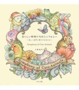 Symphony of Cute Animals - Libro da colorare