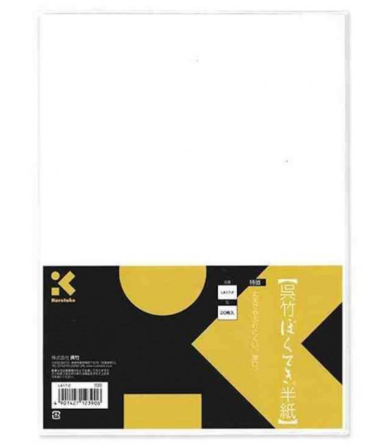 Fogli per calligrafia Kuretake-Modello LA17-2 (Elementare)- 20 fogli - Carta spessa