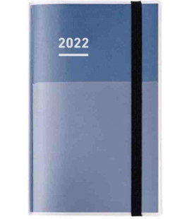 Jibun Techo Kokuyo - Agenda 2022 - Diary + Life + Idea set - A5 Slim - Blu navy