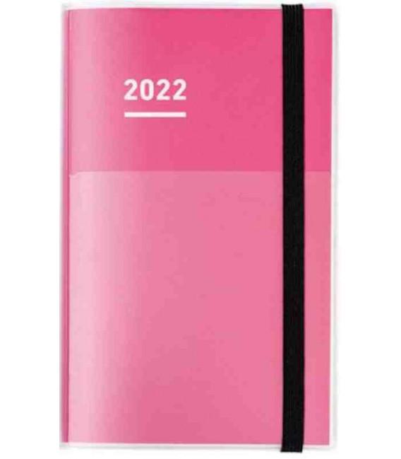 Jibun Techo Kokuyo - Agenda 2022 - Diary + Life + Idea set - A5 Slim - Colore rosa
