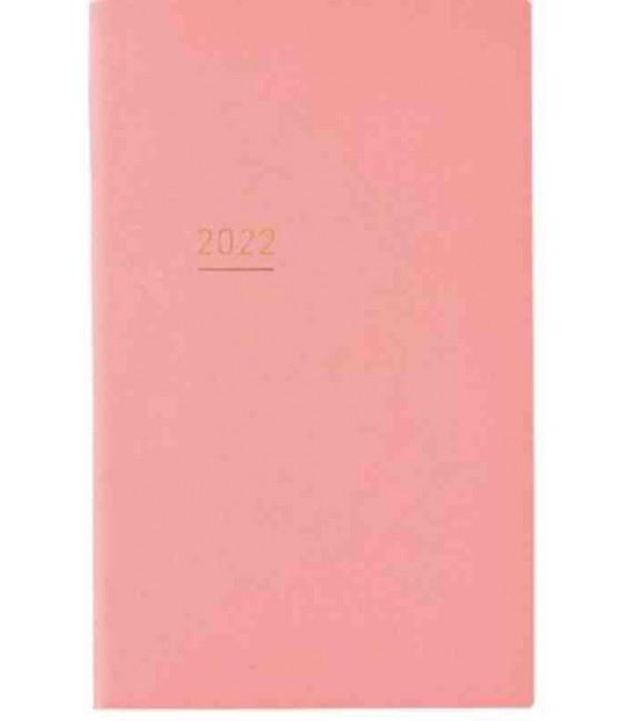 Jibun Techo Kokuyo - Agenda 2022 - Lite Mini Diary - B6 Slim - Colore rosa