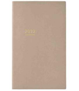 Jibun Techo Kokuyo - Agenda 2022 - Lite Mini Diary - B6 Slim - Beige